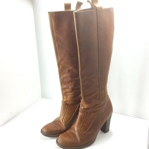 Frye 77570 Villager Pull On Suede Cowgirl Boots 8M